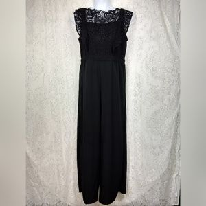 Xhilaration Size XXL Black Lace Formal Jumpsuit